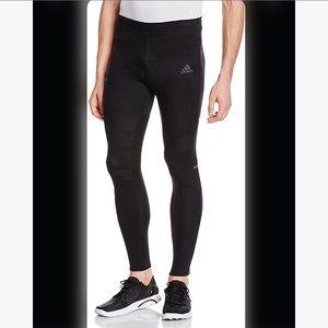 Men's Adidas medium running leggings tights black